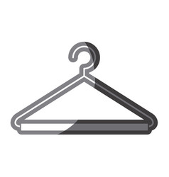 Grayscale silhouette of hook closet shirt vector
