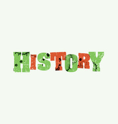 History concept colorful stamped word vector