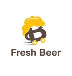 icon delivery beer vector image vector image