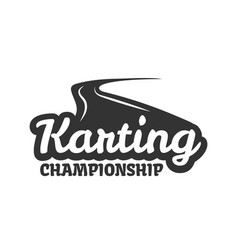 Karting club or kart races championship track vector