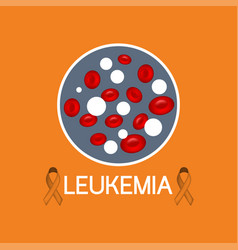 leukemia icon vector image vector image