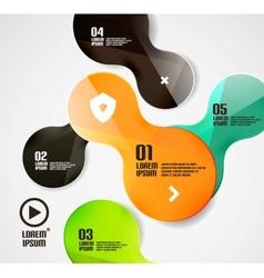 Modern minimal circles infographics vector image