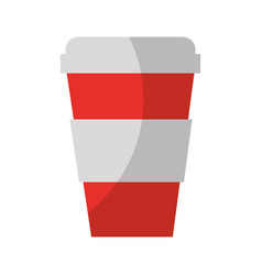 Plastic cup isolated icon vector