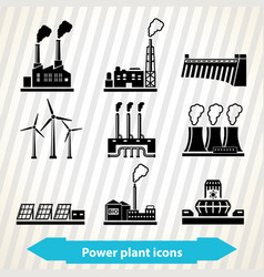 power plant icons vector image