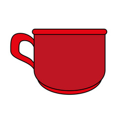 Red cup cartoon vector