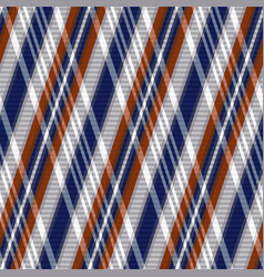 rhombic tartan seamless texture in blue grey and vector image vector image