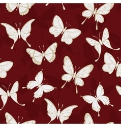 Seamless patterns with butterflies vector image