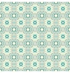 Turquoise ceramic pattern vector