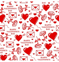 valentines seamless vector image
