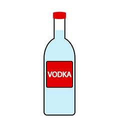 Vodka bottle icon vector