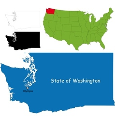 Washington map vector
