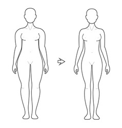 Weight Loss Art vector image vector image