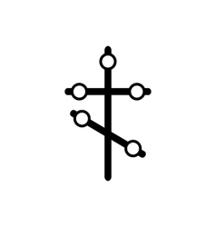 Orthodox cross icon in simple style vector