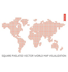 Flat world map infographic map of the world vector