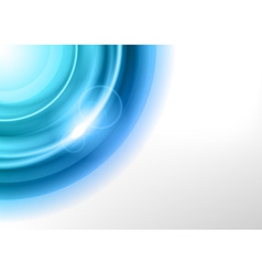 Background blue light corner round vector