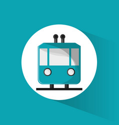funicular cable car passeger transport vector image