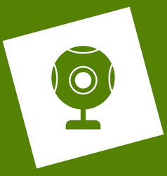 Chat web camera sign  white icon obtained vector