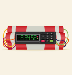 Ticking time bomb flat vector