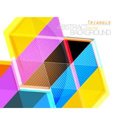 Colorful triangle shape scene vector