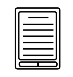 Ebook reader icon vector