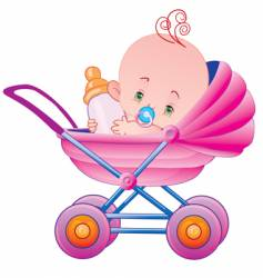 The child in a carriage vector