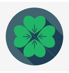 Four-leaf clover  st patricks day symbol easy vector
