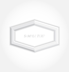 3d abstract background and hexagon icon design vector image vector image