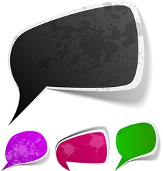 grunge speech label designs vector image