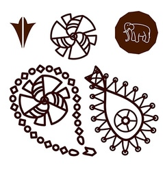 Henna indian tattoo doodle elements vector