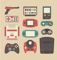275retro game player vector