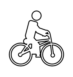 Bicycle extreme sport icon vector