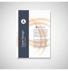 Brochure business template Abstract vector image