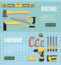 building tools website templates for store vector image vector image
