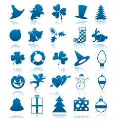 celebratory icons vector image