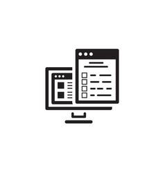 Checklist icon flat design vector