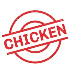 Chicken rubber stamp vector image