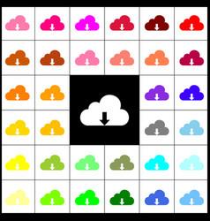 Cloud technology sign felt-pen 33 vector