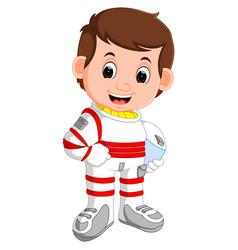 cute astronaut cartoon vector image