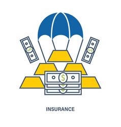 Deposit insurance flat vector
