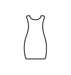 dress icon vector image