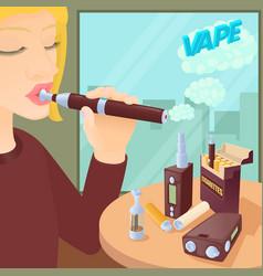 E-cigarettes concept cartoon style vector