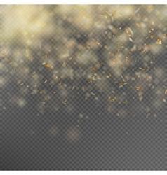 Falling Shiny Gold Glitter Confetti EPS 10 vector image