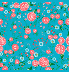 Floral seamless pattern with stylized flowers can vector