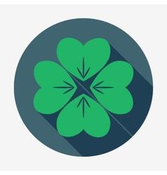 Four-leaf clover St Patricks Day symbol Easy vector image
