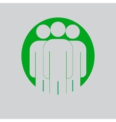 Group of people sign icon Share symbol UI vector image vector image