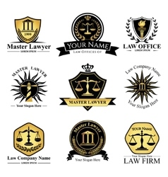 Law company set vector