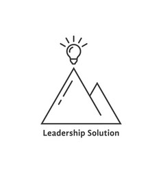Leadership solution logo with bright bulb vector