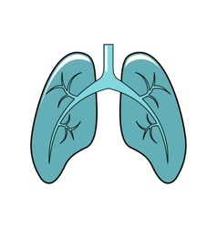 Lungs cartoon icon isolated on white background vector image vector image