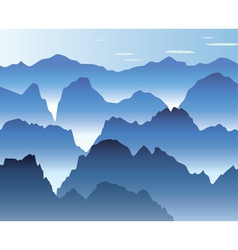 mist in the mountains vector image