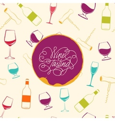 Red wine drops over text paper background vector image
